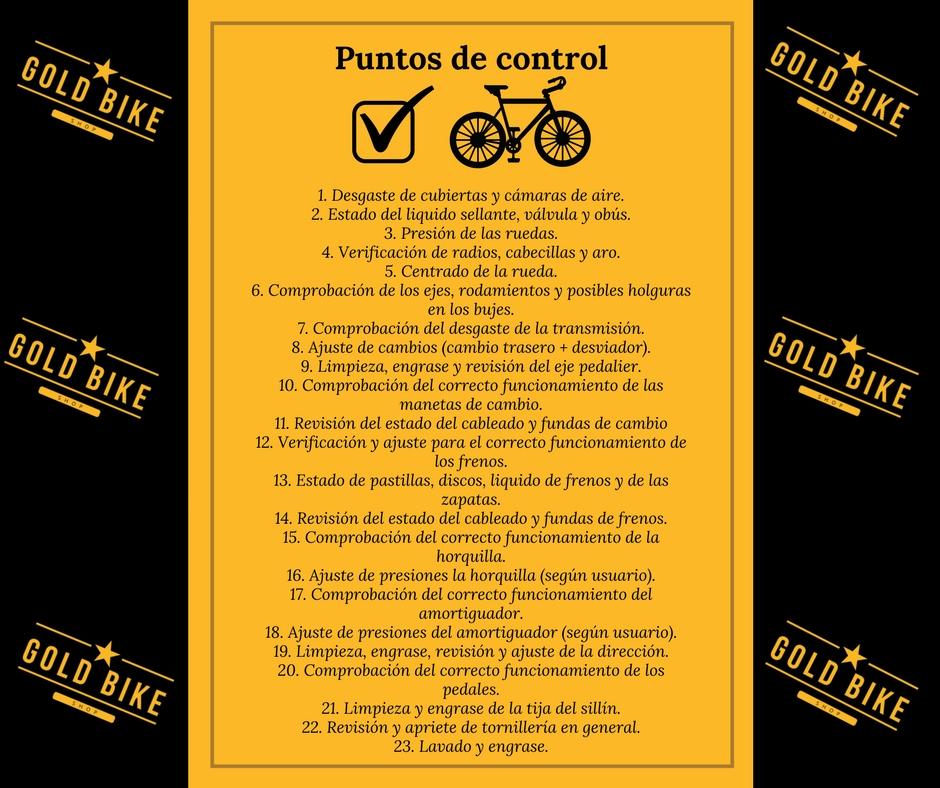 Puntos de control Bicicletas
